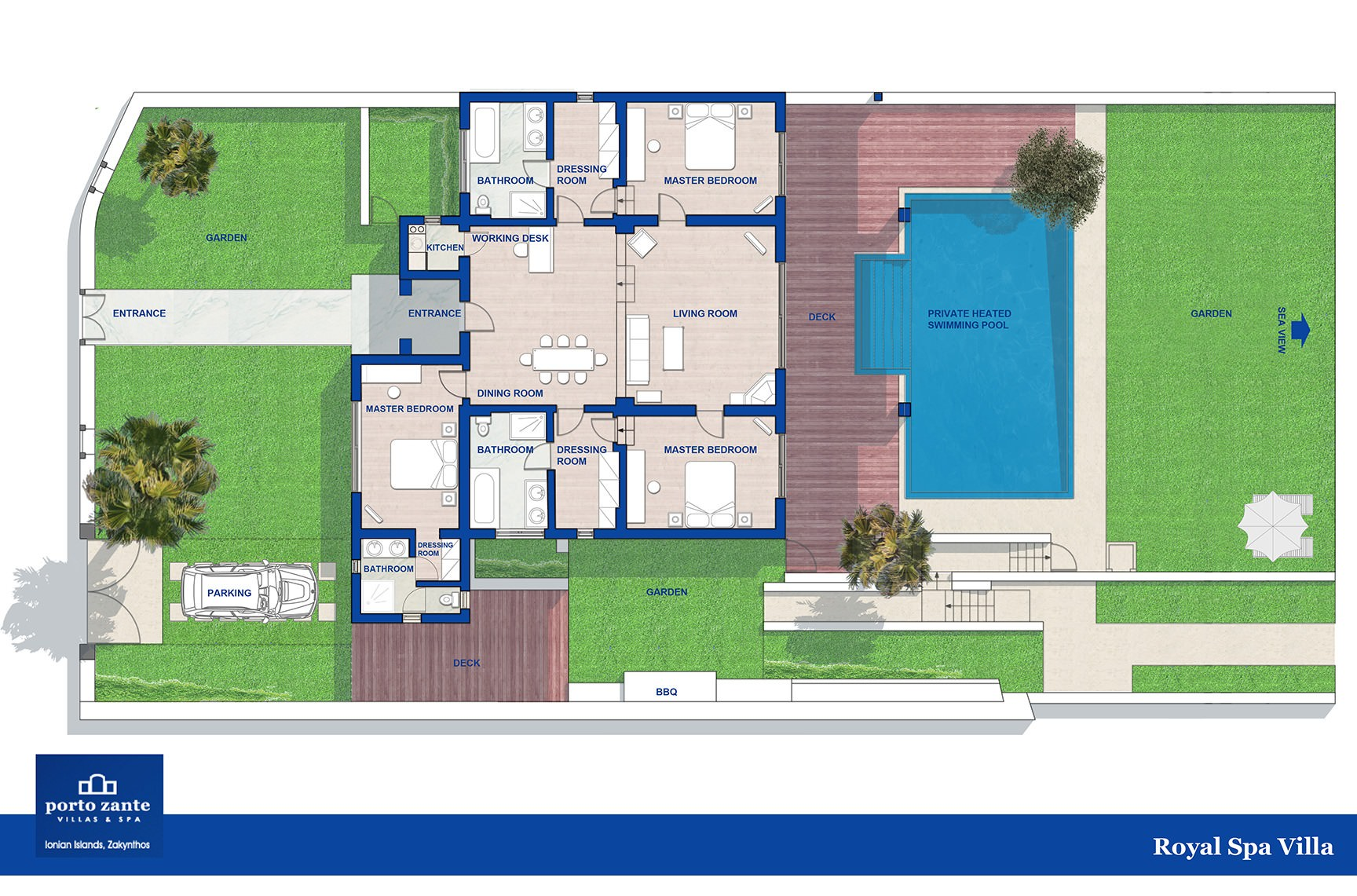 Royal spa villa best greek luxury villas porto zante villas spa - Business plan piscina ...