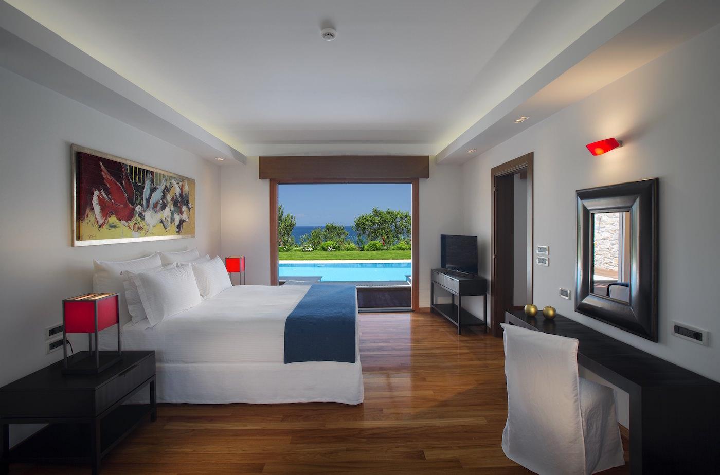 Top Luxury Villa in Greece Best Resort in Greece King size bed Private Pool Best
