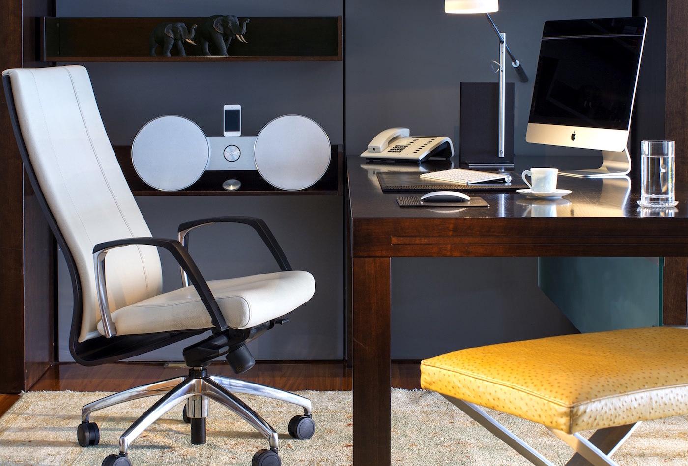 Porto Zante Greece Best Hotels working desk with imac