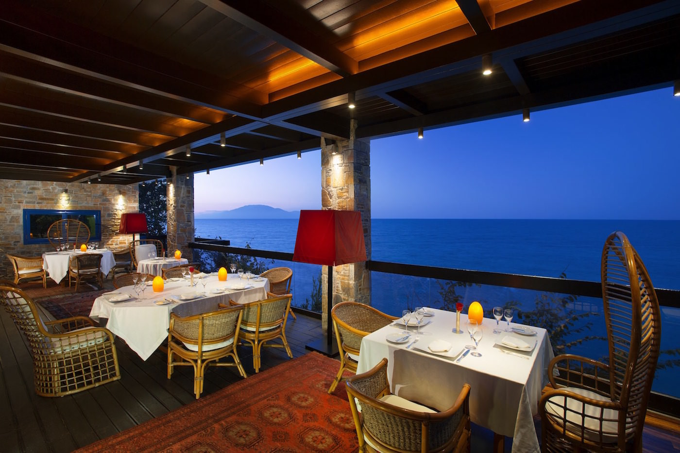 Best Hotel Restaurant with Greek and Mediterranean Cuisine on the beachfront