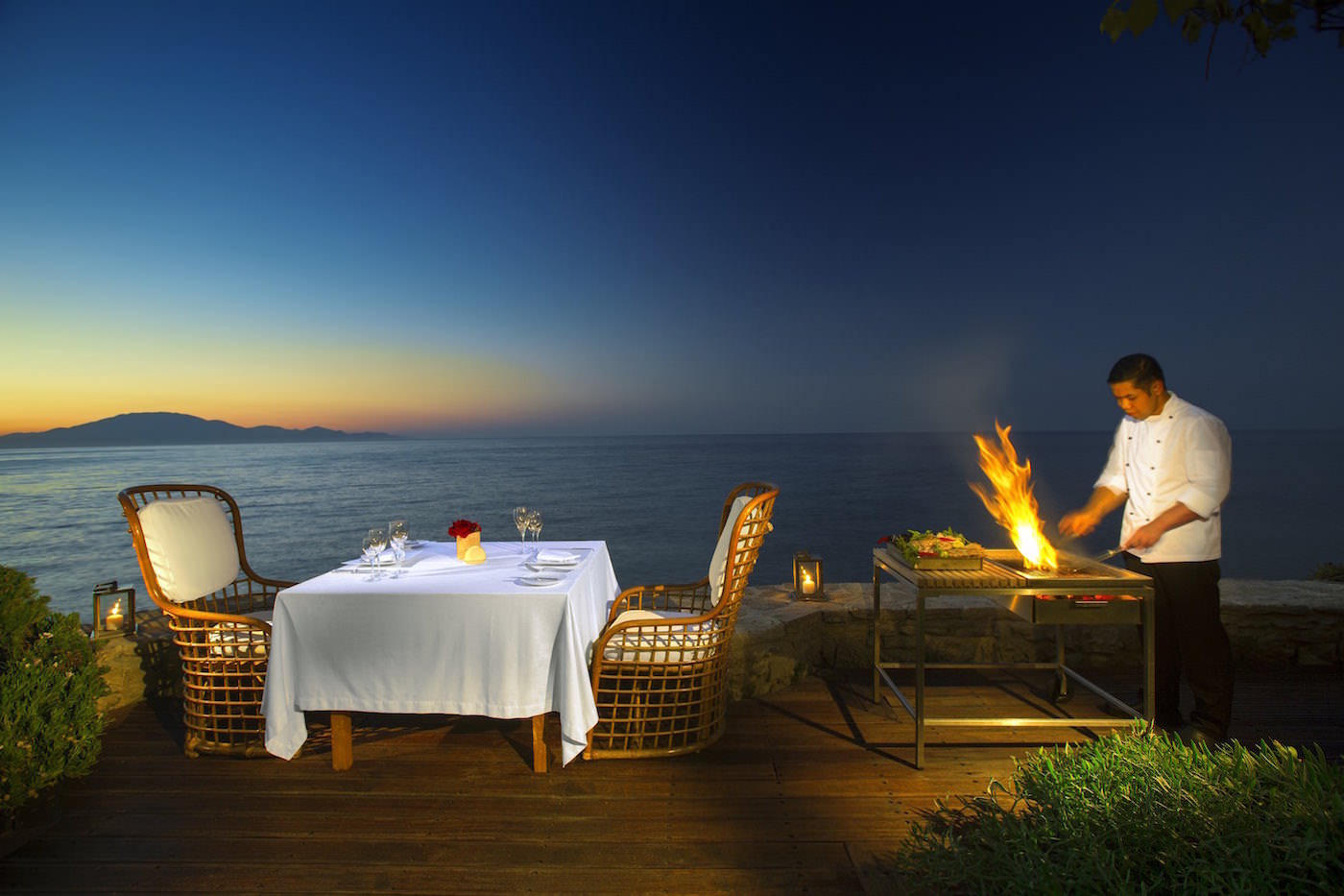 Romantic Private Dining Sandy Beach