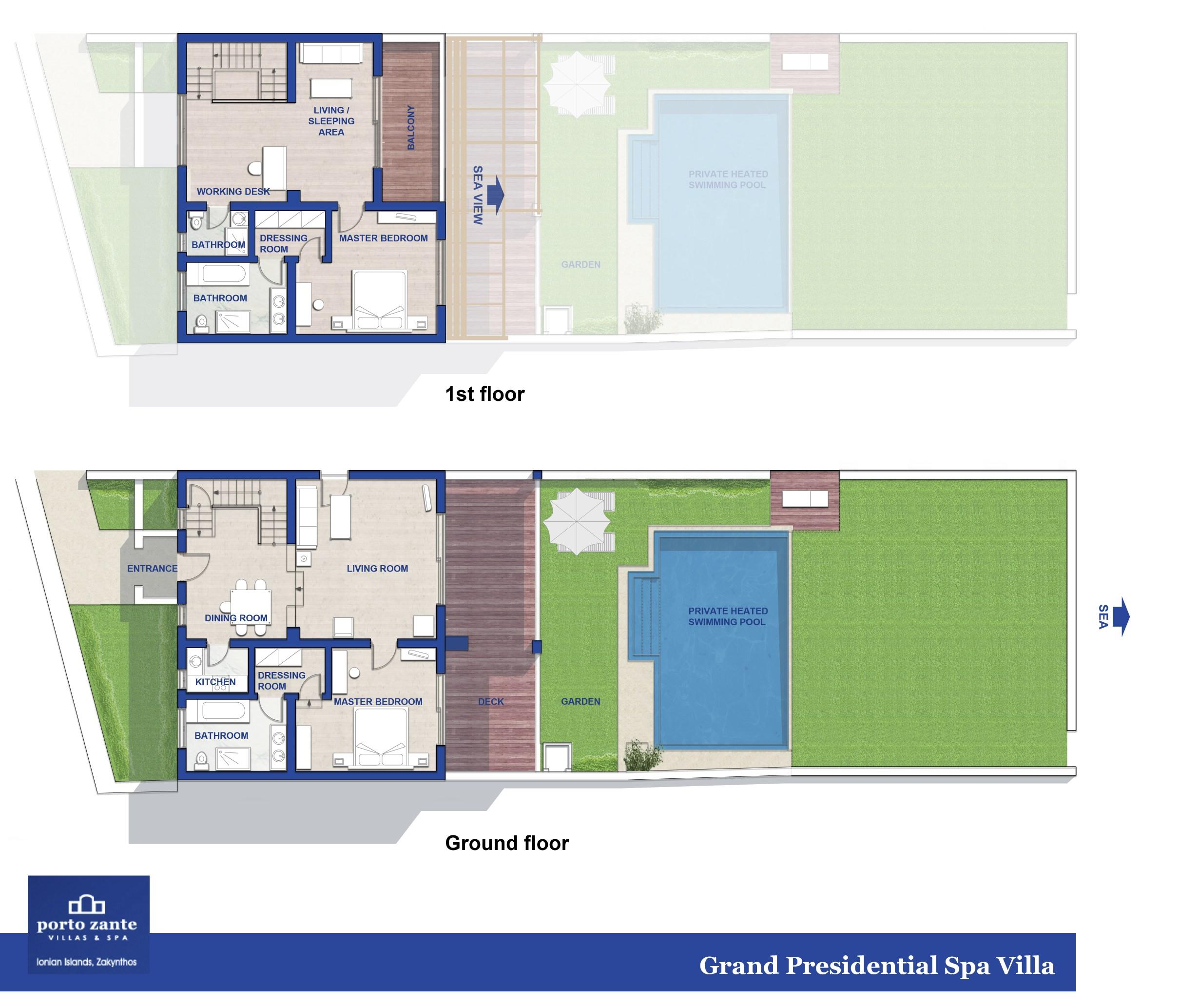 Grand presidential spa villa miglior resort di lusso con for Miglior design della planimetria
