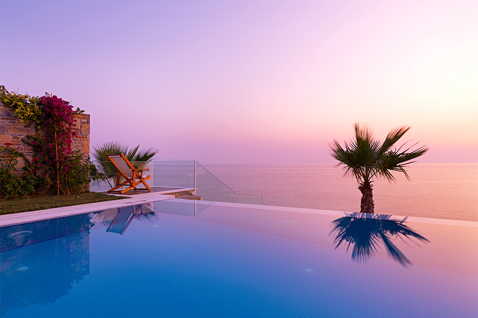 Porto Zante Greece Luxury Grand Residence villas private heated pool sunset view